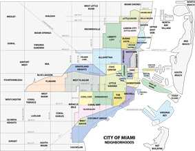 Downtown neighborhoods within the City of Miami