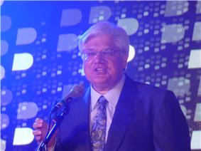 Mike Lazaridis co-founder of Research in Motion, and former chancellor of the university.
