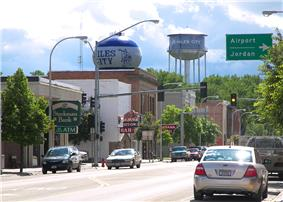 Main Street in Miles City