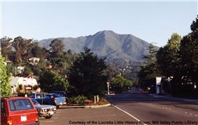 Miller Ave. toward Mt. Tamalpais in the 1990s.