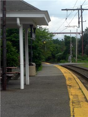 Millington Train Station, one of three train stations in Long Hill Township.