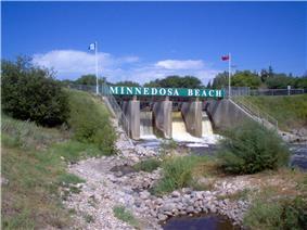 The Minnedosa Dam on the Little Saskatchewan River.