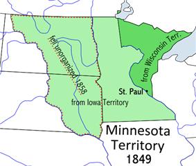 Location of Minnesota Territory