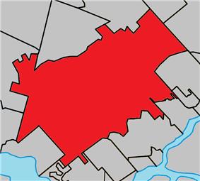 Location with surrounding municipalities
