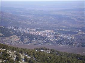 View of Miraflores de la Sierra from the mountain La Najarra.