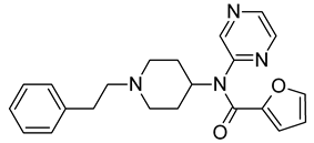 Chemical structure of Mirfentanil.