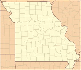 Map of Missouri divided into 115 county-sized regions each labeled with two letters. For example, the northwest region is labeled