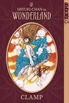 A book cover. It shows a brunette schoolgirl falling through the air, surrounded by white rabbits. The text reads