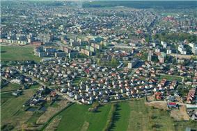 Air view of Mława