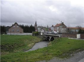 Center of the village and the Selle River