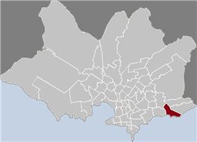 Location of Punta Gorda in Montevideo