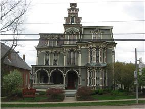 The Montgomery House, a historic building on the borough's western edge