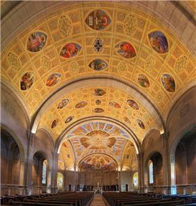View of the Saint-Léon de Westmount Church interiors