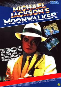 European arcade flyer of Michael Jackson's Moonwalker.