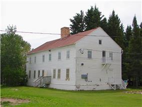 Former Hudson's Bay Company staff house in Moose Factory, Ontario, Canada, now a museum and tourism office
