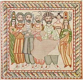 medieval icon depicting Ephrem the Syrian.