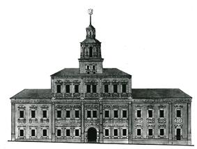 Moscow Red Square rathaus, survey by Bove, 1816.jpg