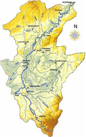 Map of the Moselle