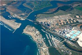 Aerial view of Moss Landing, California