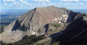 Mount Peale viewed from Mount Mellenthin.