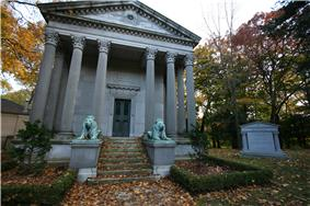 View of the Eaton mausoleum in Mount Pleasant Cemetery