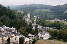 Lourdes with the Rosary Basilica