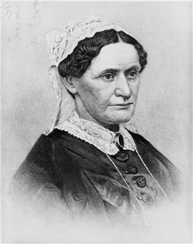 Portrait engraving of Eliza Johnson