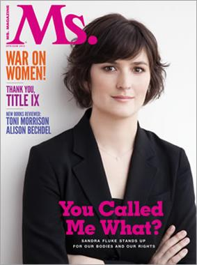 Sandra Fluke on the cover of Ms.