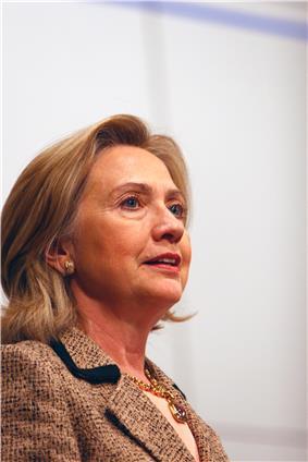 Informal pose of Clinton, 2011