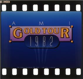 Promotional slide for the AMI Gold Tour, 1983.