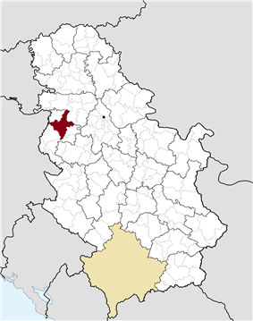 Location of the municipality of Šabac within Serbia