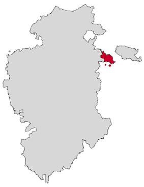 Location of Miranda de Ebro in the province of Burgos
