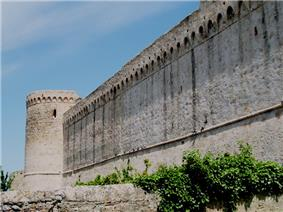 Town wall in Magliano in Toscana