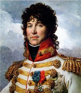 Murat in a gaudy white uniform with gold braid