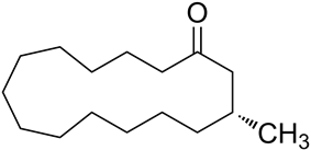Structural formula of muscone