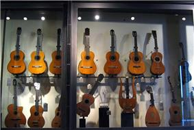Guitars from the Museum Cité de la Musique in Paris