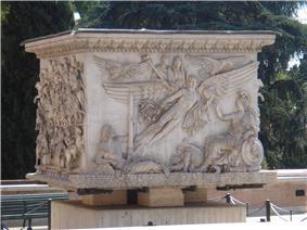 The extant base of the Column of Antoninus Pius