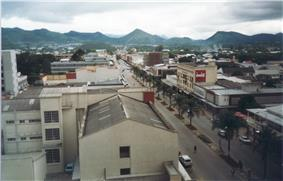 Aerial view of Central Mutare (2001)