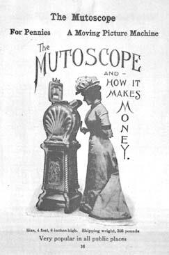 An 1899 advertisement for the mutoscope reading