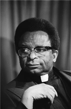 A portrait photograph of Abel Muzorewa