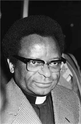 A portrait photograph of Abel Muzorewa