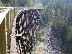 Myra Canyon Section of the Kettle Valley Railway in 2003