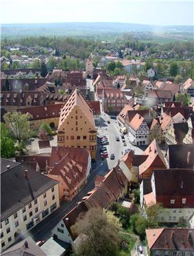 Nördlingen, south view from the church tower Daniel