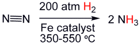 Hydrogenation of nitrogen