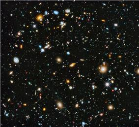 The Hubble Ultra-Deep Field 2014 image with an estimated 10,000 galaxies