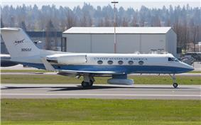 Gulfstream G-III with NASA markings.