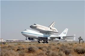 A NASA Shuttle Carrier Aircraft, a modified Boeing 747-100SR.