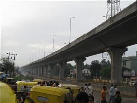A view of the NBTPL project from Jalahalli cross on Bangalore-Tumkur Road (National Highway 4)
