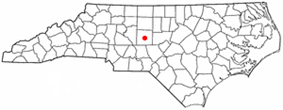 Location of Asheboro, North Carolina