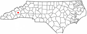 Location in North Carolina